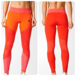 Adidas Ultimate Long Tights in Core Red/Core Pink